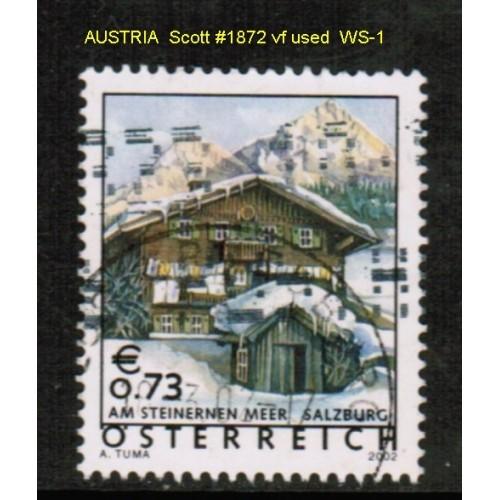 AUSTRIA    Scott # 1872 VF USED (WS-1)