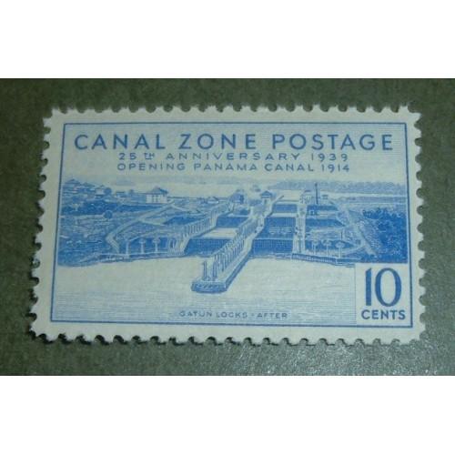 US-CZ, Scott# 127, ten cent Gatun Locks After single stamp