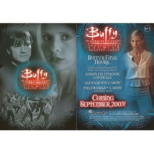 BUFFY THE VAMPIRE SLAYER SEASON SEVEN B7-1 PROMO CARD