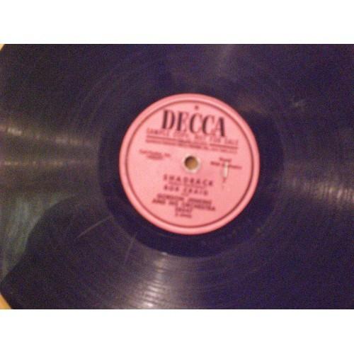 78 RPM: #872.. BOB CRAIG - SHADRACK & THE THRILL IS GONE / DECCA PROMO 28547 /