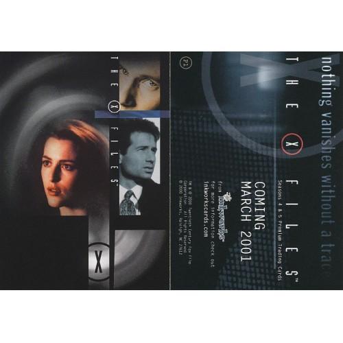 THE X-FILES SEASON 4&5 P1 PROMO CARD