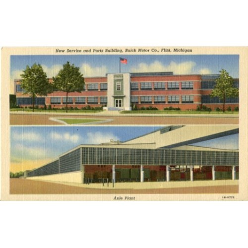 New Service and Parts Building, Buick Motor Co., Flint, Michigan & Axle Plant