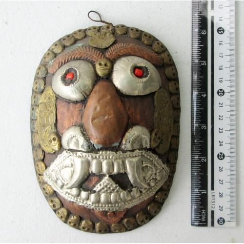 Decorative Old Tibet Tibetan Copper Buddhist Mask