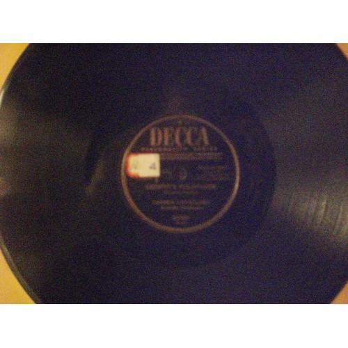 78 RPM: #14 CARMEN CAVALLARO - WARSAW CONCERTO & CHOPPIN'S POLONAISE / DECCA