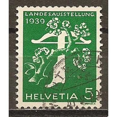 1939  SWITZERLAND  5 c. National Exposition  used,  Scott # 260
