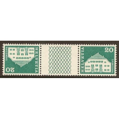 1968  SWITZERLAND  20 c.  Planta House, Samedan  mint**, Zumstein # S71