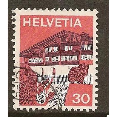 1973  SWITZERLAND  30 c.  Simme Valley  used, Scott # 562