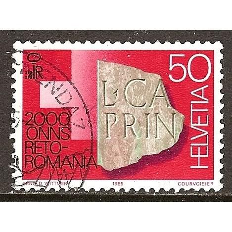 1985 SWITZERLAND  50 c.  Rheto-Roman Culture  used, Scott # 752