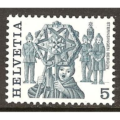 1977 SWITZERLAND  5 c. Folks Customs  mint**, Scott # 632