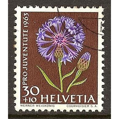 1963 SWITZERLAND  30+10 c. Pro Juventute  issue  used, Scott # B332