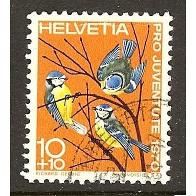 1970 SWITZERLAND  10+10 c. Pro Juventute  issue used, Scott # B394