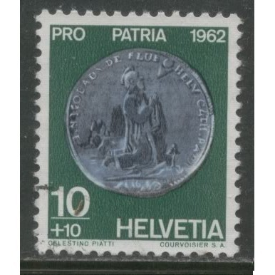 1962  SWITZERLAND   10+10 c.  Pro Patria  issue  used, Scott # B314