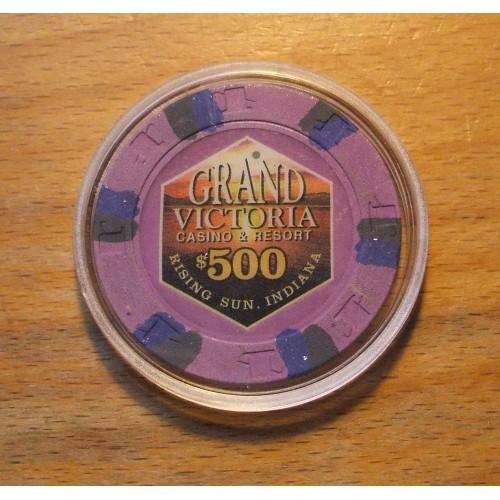 GRAND VICTORIA $500. Casino Chip - RISING SUN, INDIANA - Shipping Discounts