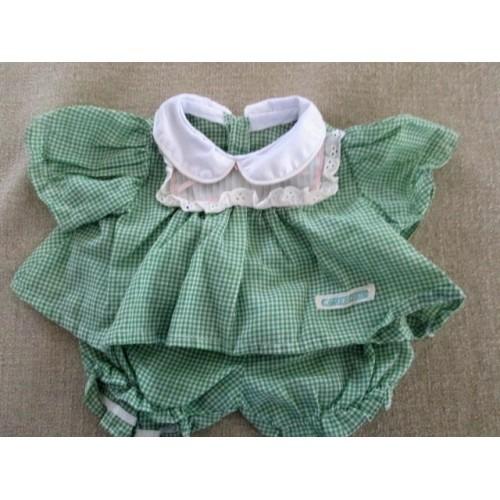 Vintage Cabbage Patch Green Gingham Dress Set - Please Read Description