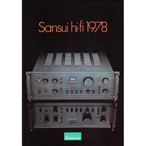 Sansui - Hi-Fi 1978 Catalogue