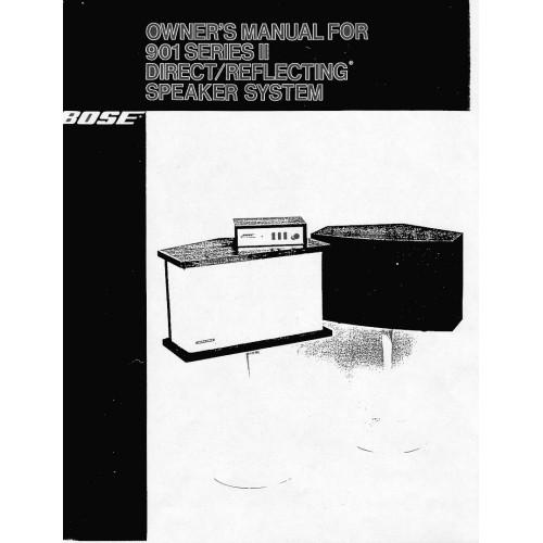 Bose - 901 Series II Speaker Owners Manual