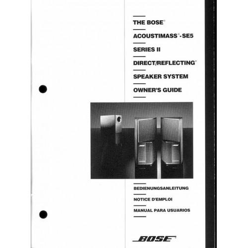 Bose - Acoustimass SE5 Series II Speaker Owners Manual