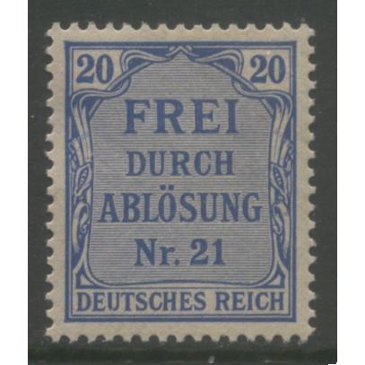 1903 GERMANY   20 Pfennig Local Official  issue mint*  Scott # OL5