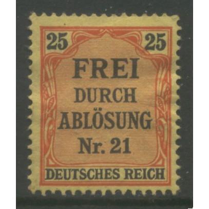 1903 GERMANY   25 Pfennig Local Official  issue mint*  Scott # OL6