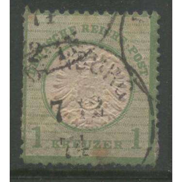 1872 GERMANY   1 Kreuzer  Eagle with large Shield used,  Scott # 21