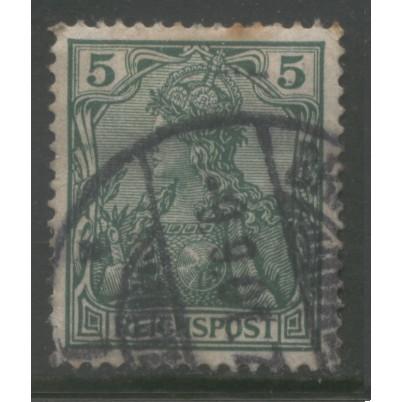 1900 GERMANY   5 Pfennig  Germania issue used,  Scott # 54