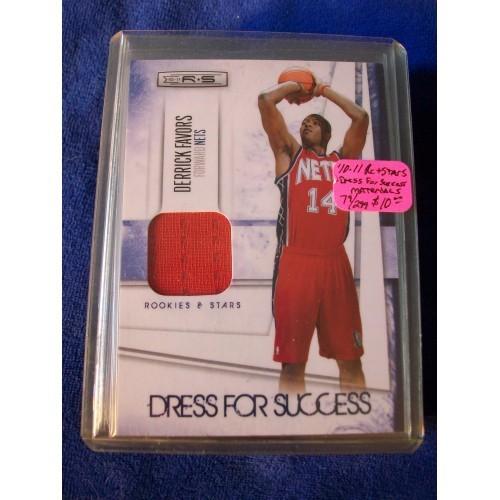 2010-11 Rookies and Stars Dress for Success Materials #6 Derrick Favors Nets NBA