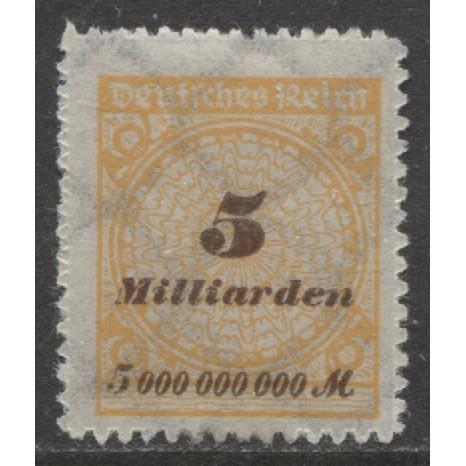 1923 GERMANY  5mlrd Mark  numeral issue  mint*, Scott # 307