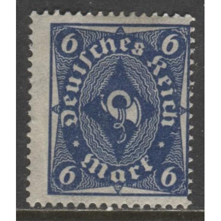 1922 GERMANY  6 Mark  Post Horn issue  mint*, Scott # 189