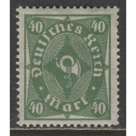 1922 GERMANY  40 Mark  Post Horn issue  mint*, Scott # 193