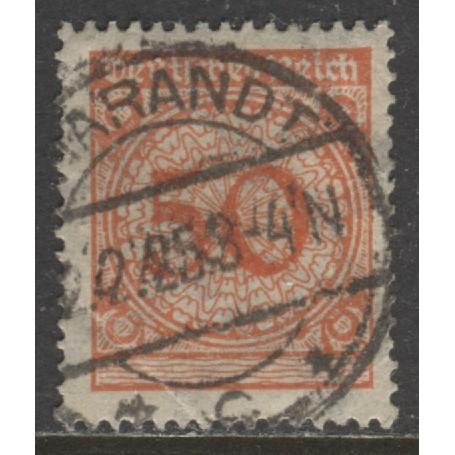 1923 GERMANY  50 Pfennig  numeral  issue  used, Scott # 327