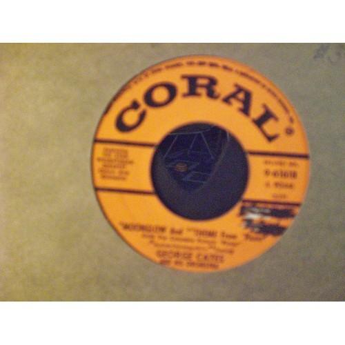 45 RPM: #2632.. GEORGE CATES - RIO BATUCADA &  MOONGLOW / CORAL 9-61618 / VG+