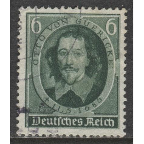 1936 GERMANY  6 Pfennig Otto von Guericke used, Scott # 472