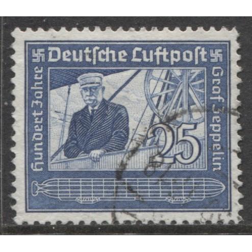 1938 GERMANY  25 Pfennig  Air Mail  issue used, Scott # C59