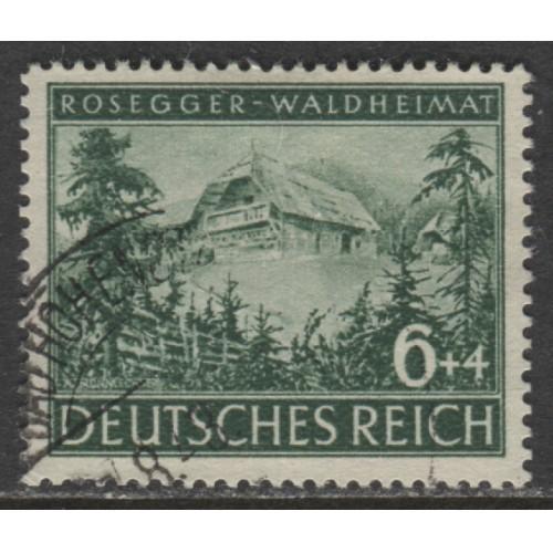 1943 GERMANY  6+4 Pfennig  Rosegger's Birthplace used, Scott # B241