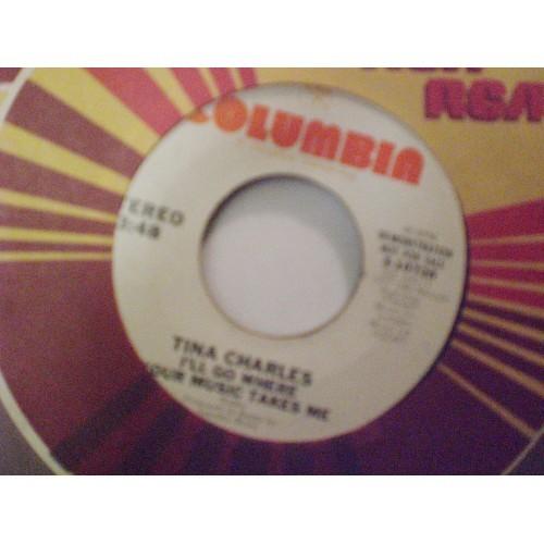 45 RPM: #2720.. TINA CHARLES - I'LL GO WHERE YOUR MUSIC TAKES ME  (MONO & STEREO