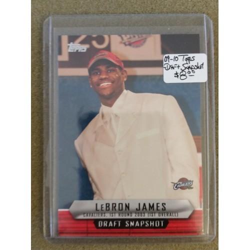 2009-10 Topps - Draft Snapshot #DSLJ LeBron James CAVS CAVALIERS NBA