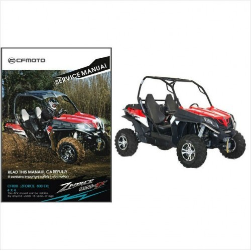 CFMoto Z8 CF800 ZForce 800 EX 4X4 ATV / UTV Service Repair Manual CD - CF Moto