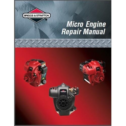 Briggs & Stratton Micro Engine Service Repair Manual CD --- Trimmer Engines