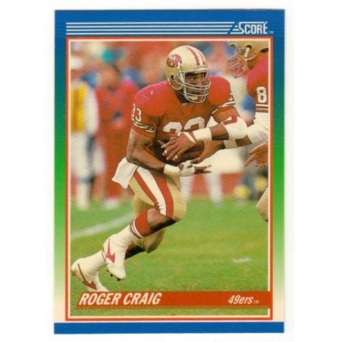 1990 Score Roger Craig NFL Trading Card # 100 - LN