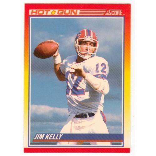 1990 Score Jim Kelly – Hot Gun - NFL Trading Card # 318 - LN