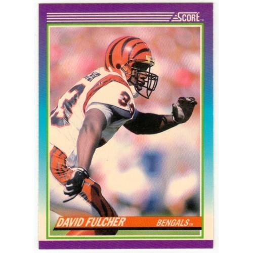 1990 Score David Fulcher NFL Trading Card # 183 - LN