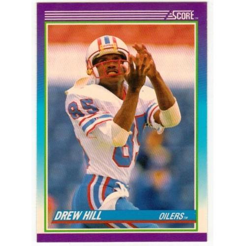 1990 Score Drew Hill NFL Trading Card # 185 - LN