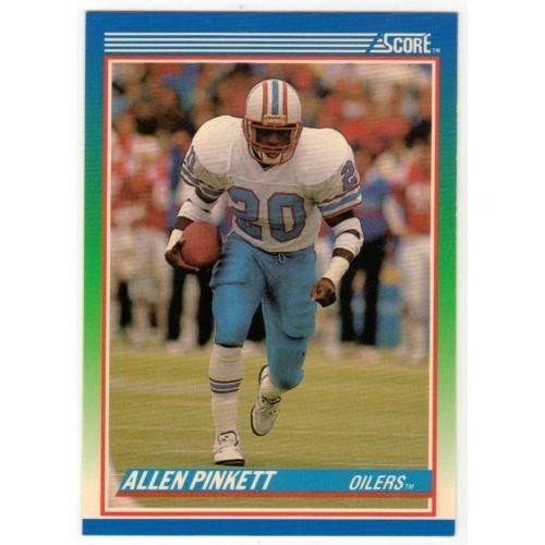 1990 Score Allen Pinkett NFL Trading Card # 22 - LN