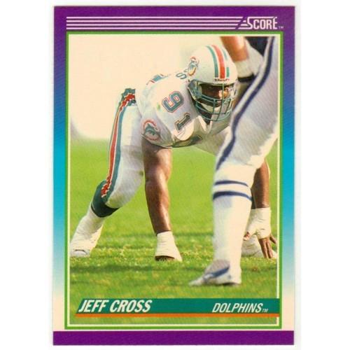 1990 Score Jeff Cross NFL Trading Card # 213 - LN