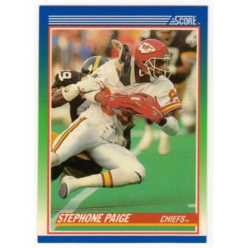 1990 Score Stephone Paige NFL Trading Card # 96 - LN