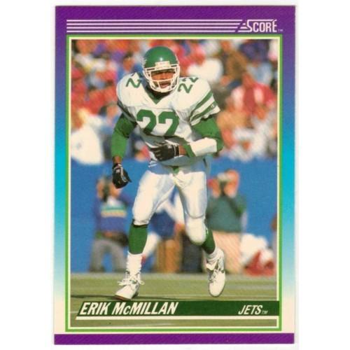1990 Score Erik McMillan NFL Trading Card # 117 - LN