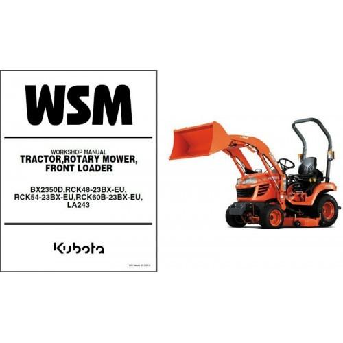 Kubota BX2350D Tractor Service Repair Workshop Manual CD - BX 2350 D