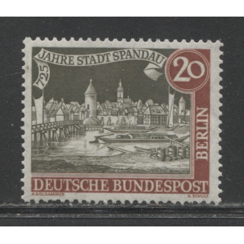 1962  BERLIN West   20 Pf.  Views of Old Berlin  mint**, Scott # 9N199