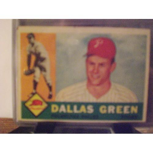 BASBALL CARD: 1960 TOPPS #366  DALLAS GREEN VG/EX