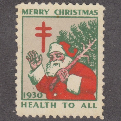 USED 1930 CHRISTMAS SEAL (SCOTT #WX55)
